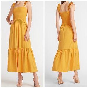 Express Maxi Feminine's Flattering Ruffles Dress